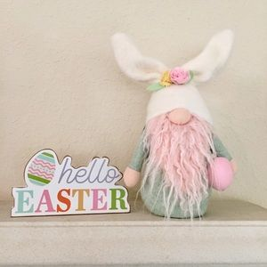 🐇 Easter Bunny | Spring Sage Green & Pink Gnome